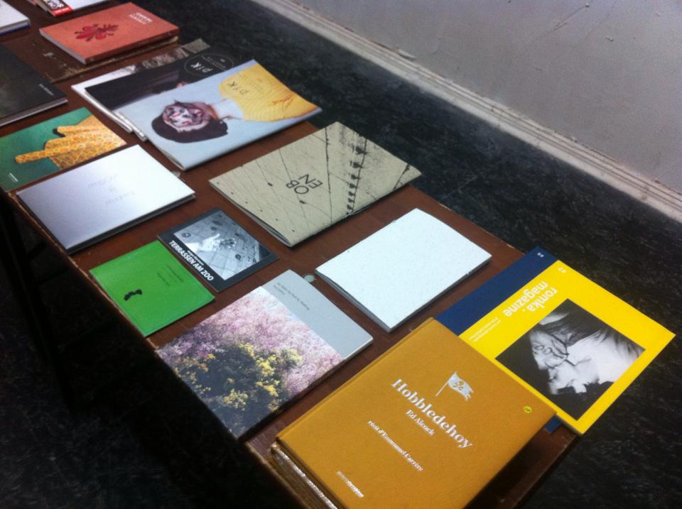 ACMV's popup Photobook Market during the Bubble & Scrape exhibition | Das Giftraum, Berlin-Neukölln, 2014