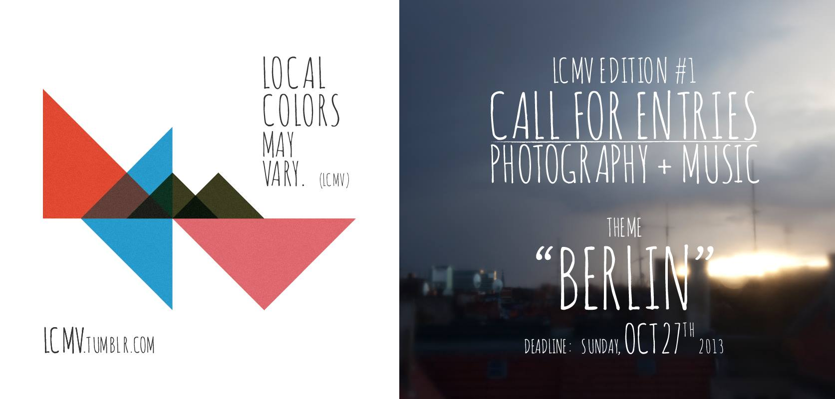 Local Colors May Vary #1 | open call