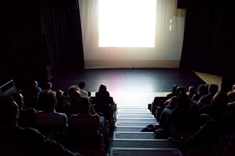 ACMV's projection at Belfast Photo Festival 2013