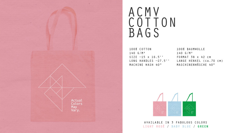 ACMV's screen printed tote bags