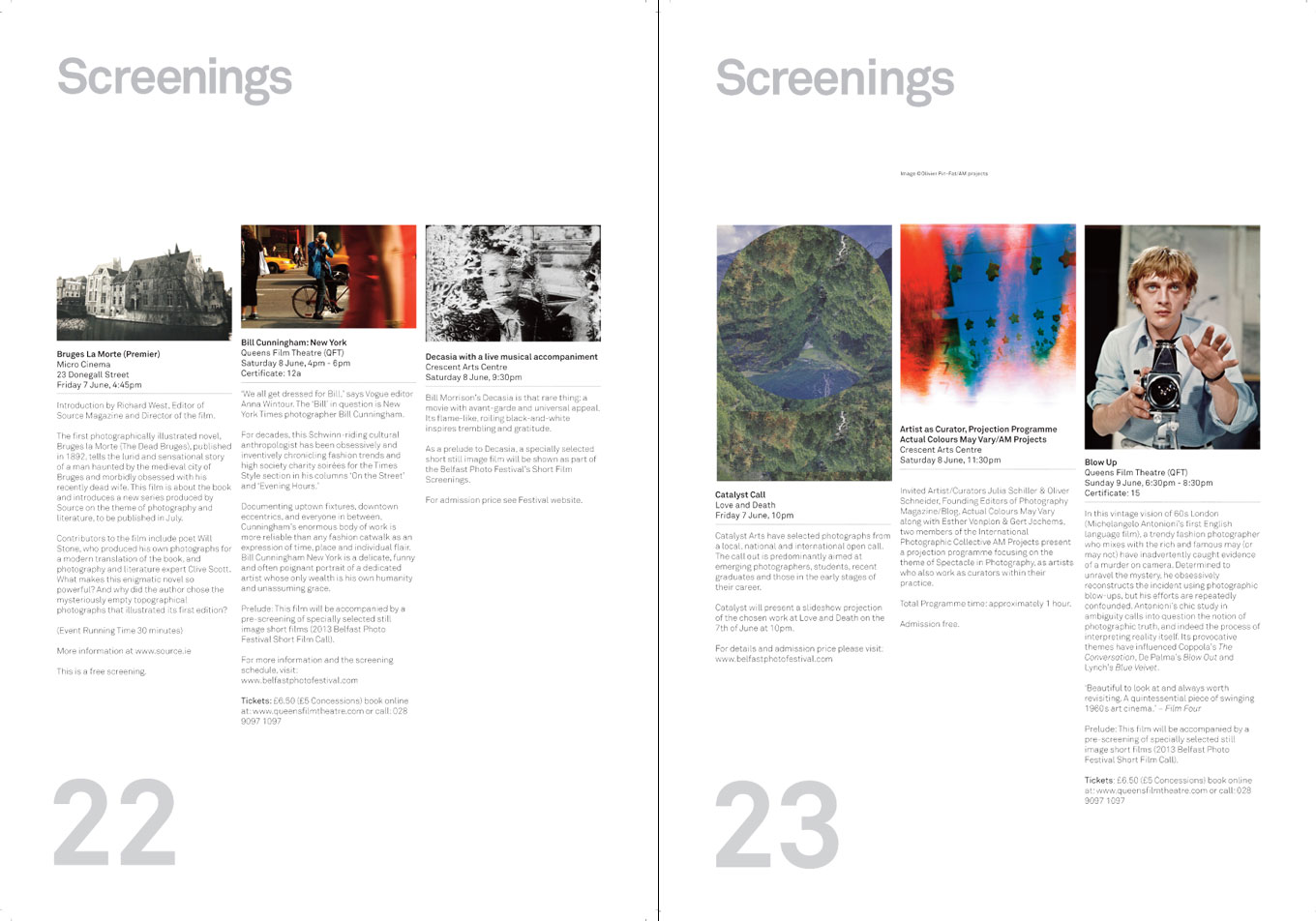 Belfast Photo Festival 2013 | Catalogue pages 22 + 23