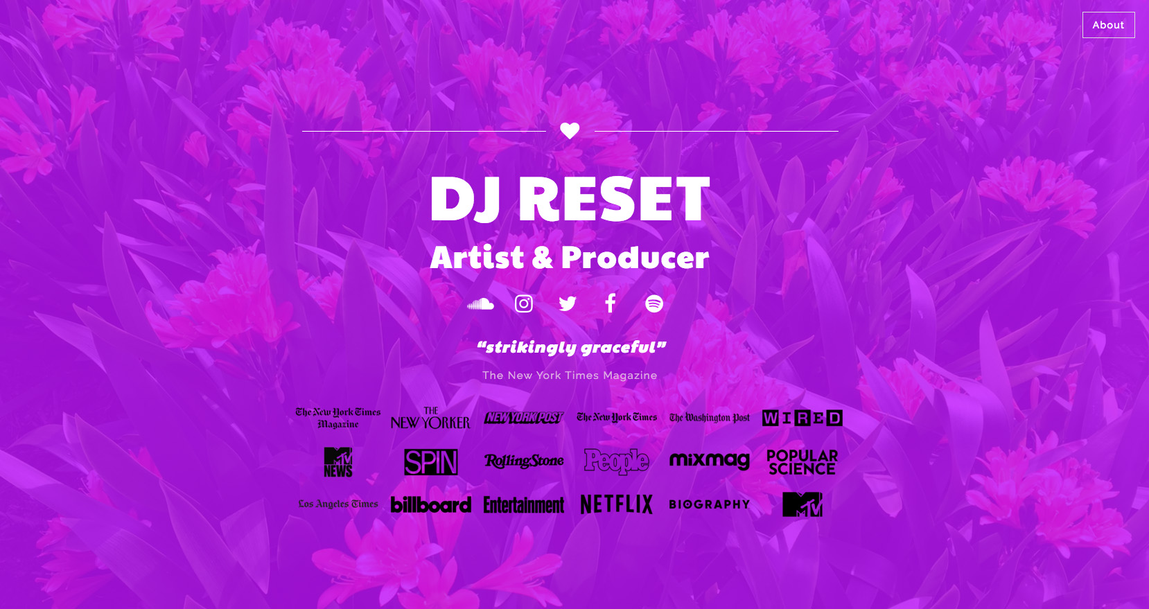 DJ Reset website