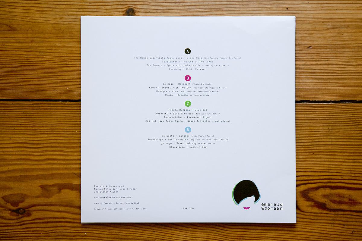 Emerald & Doreen 100 vinyl, back cover