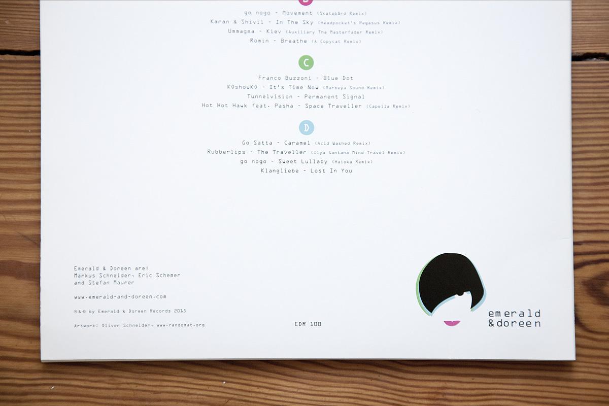 Emerald & Doreen 100 vinyl, detail
