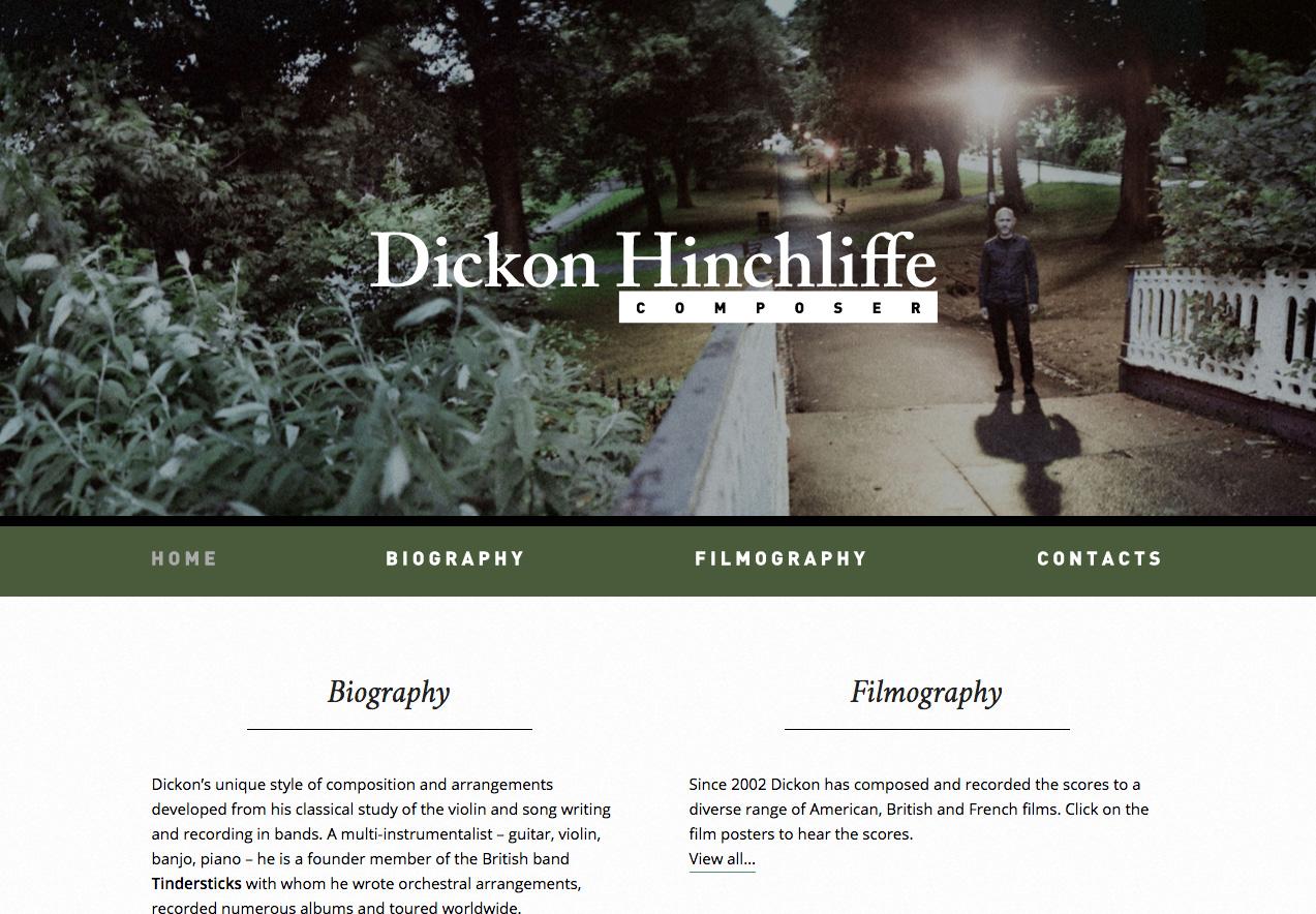 Dickon Hinchliffe website