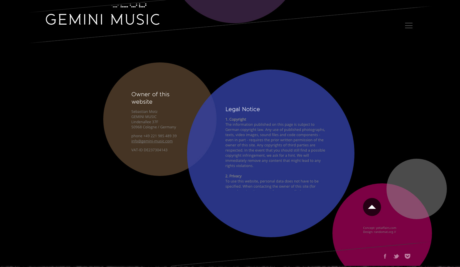 Gemini Music website
