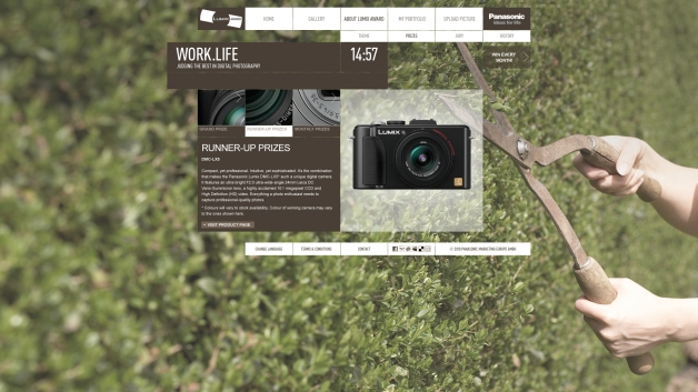 Work.Life – Panasonic LUMIX Award 2010 | Website