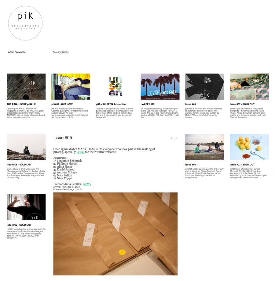 piK magazine   website