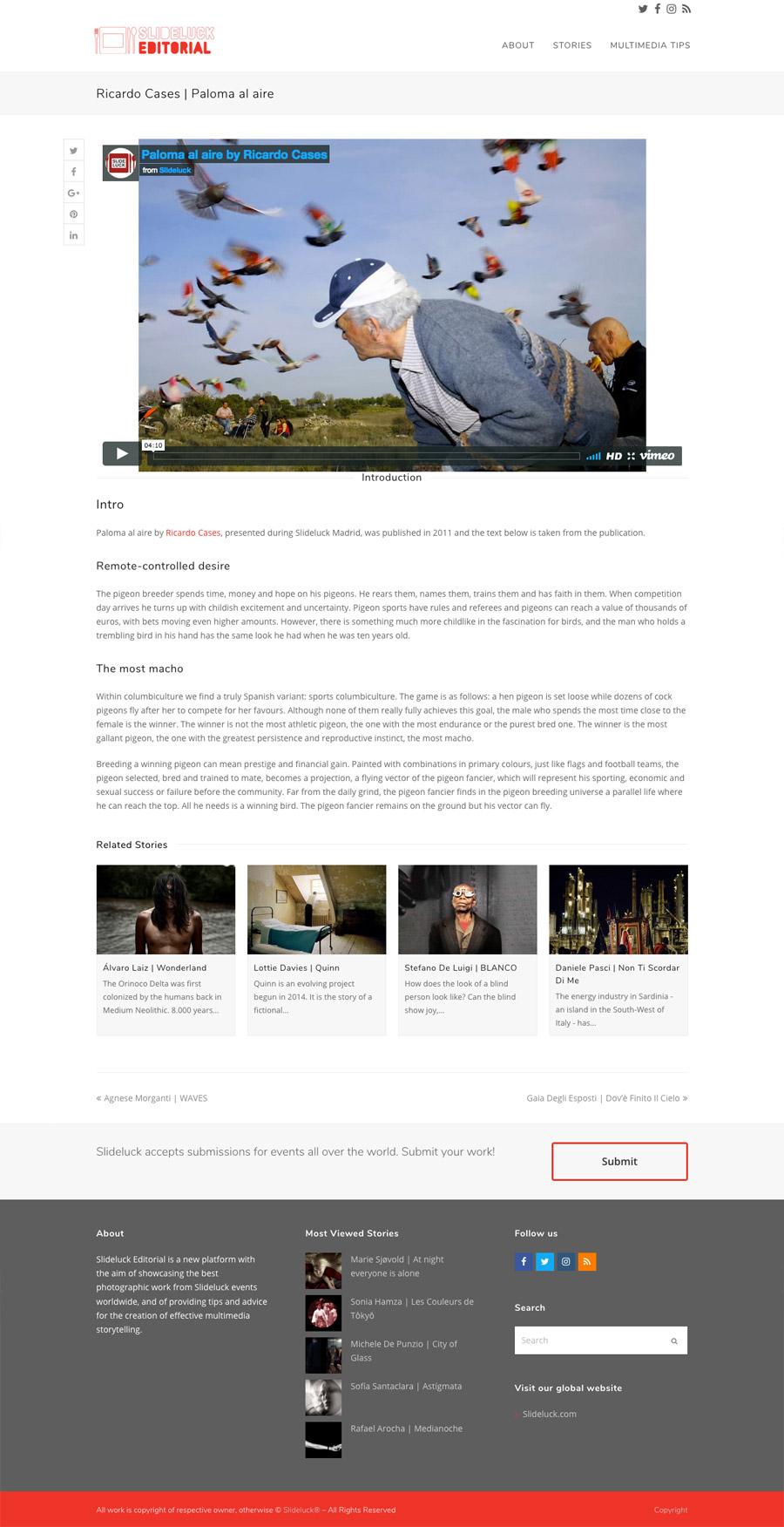 Slideluck Editorial | Website
