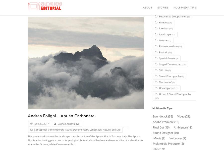 Slideluck Editorial   Website